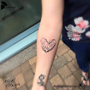 Linework Herz Tattoo