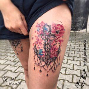 Aquankala Aquarelle Anker Mandala Tattoo