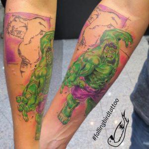 Der unglaubliche Hulk Tattoo