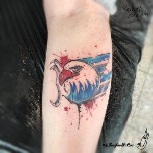 Adler Mannheim Fan Tattoo