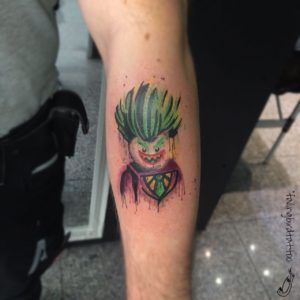 Lego Joker Tattoo